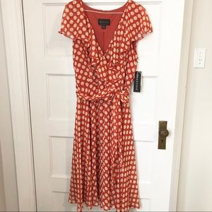 Connected Apparel polka dot nursing friendly dress